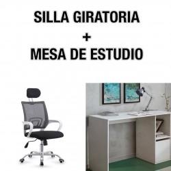 SILLA GIRATORIA + MESA DE ESTUDIO