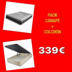 PACK CANAPÉ + COLCHÓN 90X190