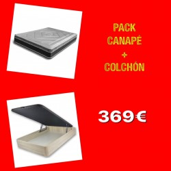 PACK CANAPÉ + COLCHÓN 105X190